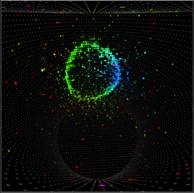 a neutrino candidate in the Super Kamiokande detector of the T2K experiment