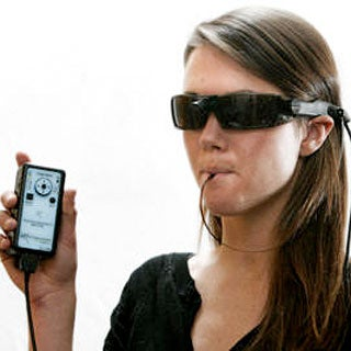 Tasting the light device lets the blind quot see quot with their tongues