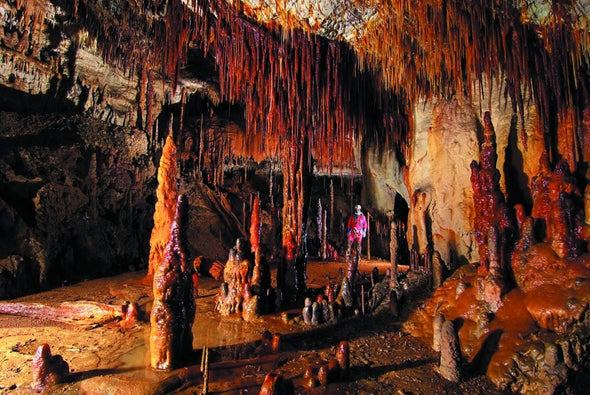 Red Stalagmites Reveal Glimpses of the Past