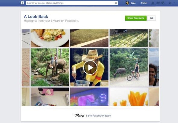 Facebook Celebrates 10 Years with Look Back