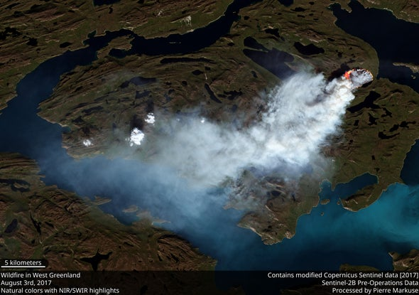 Wildfire Burns across (Formerly) Icy Greenland