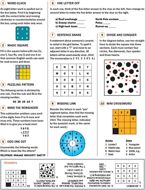 Head Games: Try These Puzzles - Scientific American