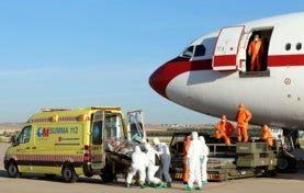 Ebola patient near Madrid at Airport