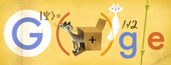 Google Doodle kitty honors physicist Erwin Schrodinger