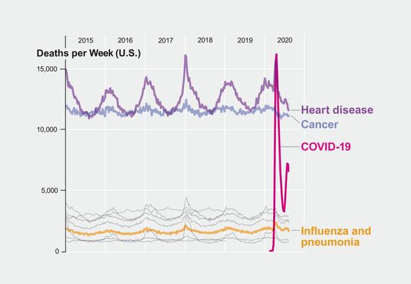 COVID-19 Sekarang Menjadi Penyebab Utama Kematian Ketiga di AS