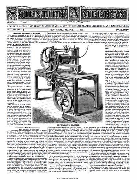 Scientific American Volume 28, Issue 11