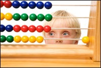 child and abacus