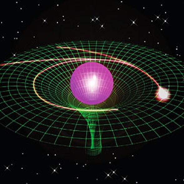 Curved Spacetime Mimicked on a Chip