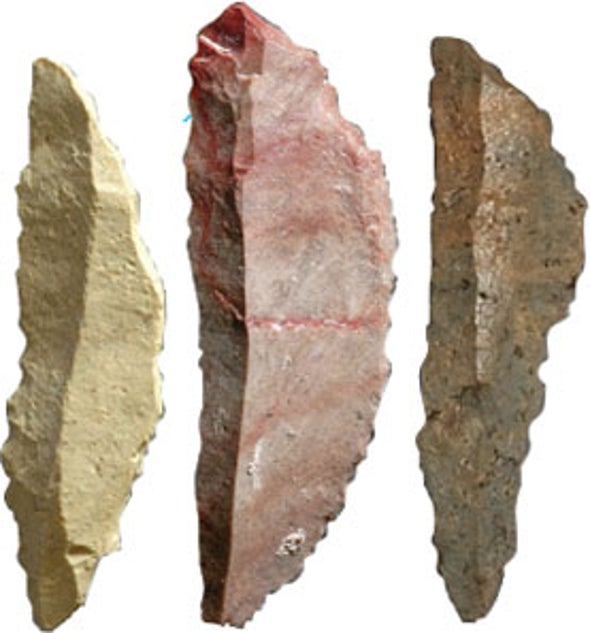 Old Arrowheads Hint At How Humans Overtook Neandertals