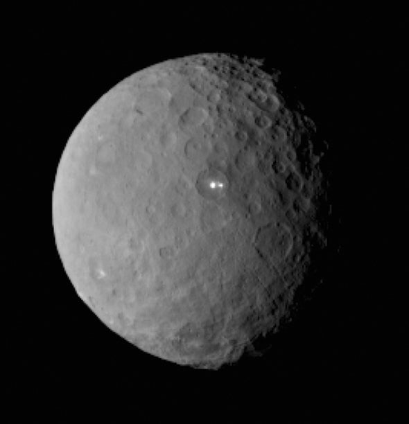 Bright Spots on Ceres Could Be Active Ice