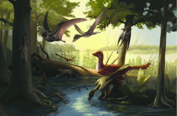Famous Fossil Bed in China Yields Feathered and Bucktoothed Dinos, Gliding Mammals and a Pterosaur
