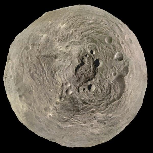The Best'a Vesta: Orbital Imagery Captures Asteroid's Towering Peak