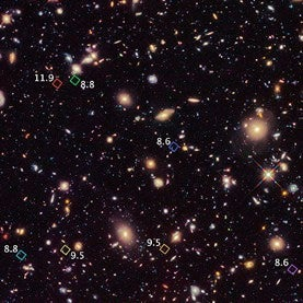 Shifty Sightings: Hubble Images Reveal 7 of the Most Distant Galaxies Ever Seen