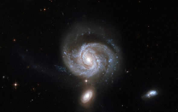 Binary Giant Black Holes Spotted at Galaxy's Core