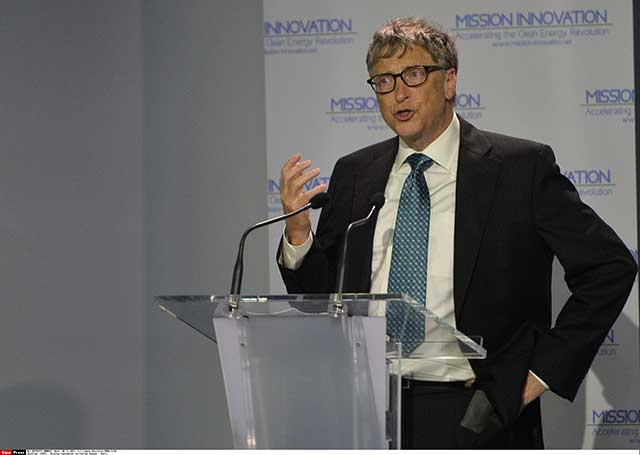 Gates Joins Big Wigs in Paris to Push Clean Energy Initiative