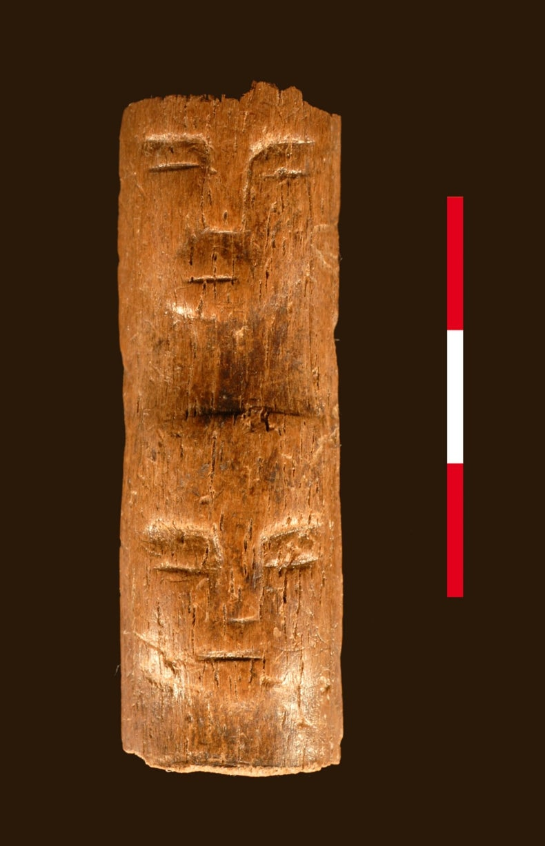 "Ancient ""Ritual Wand"" Etched with Human Faces Discovered in Syria"