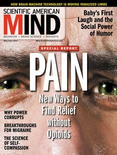 Scientific American Mind Volume 28, Issue 3