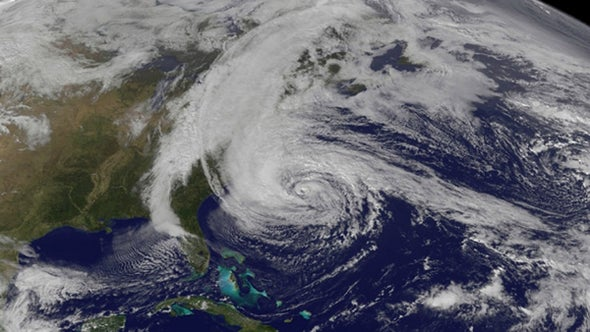 Warmer Seas Linked to East Coast Hurricane Outbreaks