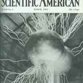 Streamers of Sparks from a 40-foot-tall Van de Graaff Generator, 1934
