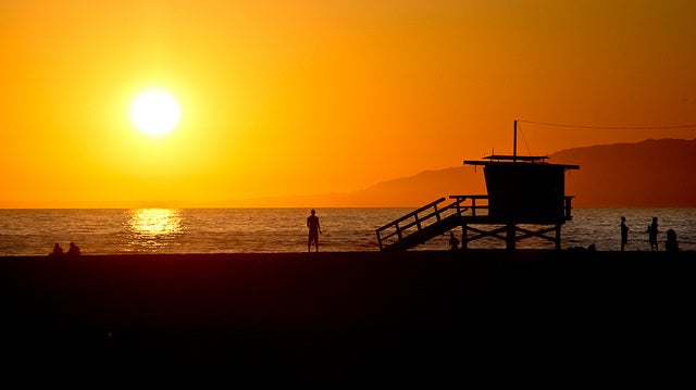 Venice Beach sunset  Credit  Credit  John Fraissinet via FlickrLightning at Venice Beach Shows California Faces Weird Weather  . Old Lightning Venice Ca. Home Design Ideas