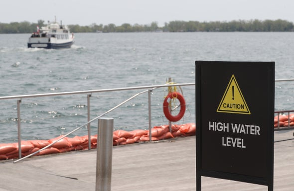 Climate Change Sends Great Lakes Water Levels Seesawing