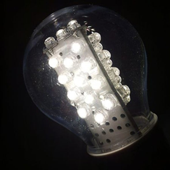 For Energy Savings, LEDs Outshine Solar Panels