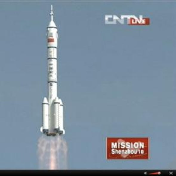 China Launches Fifth Manned Mission into Orbit