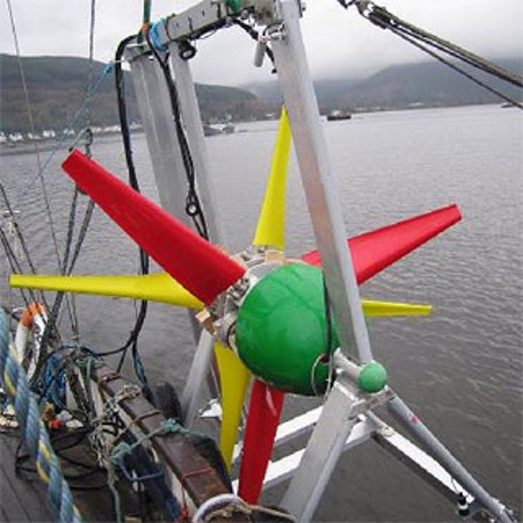 The Tide Is Turning: Turbine Rides Underwater Currents Like a Kite