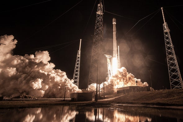 SpaceX Launches Test Satellites for Internet Constellation