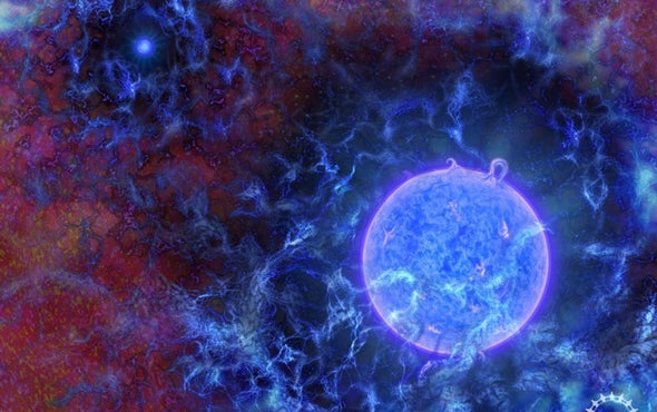Astronomers Glimpse Signposts of Universe's First Stars