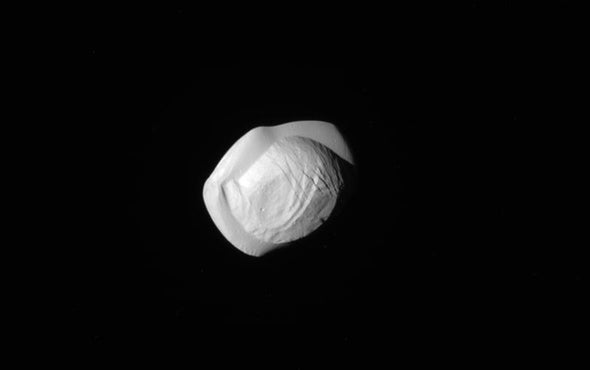 What Made Saturn's Ravioli-Shaped Moons?