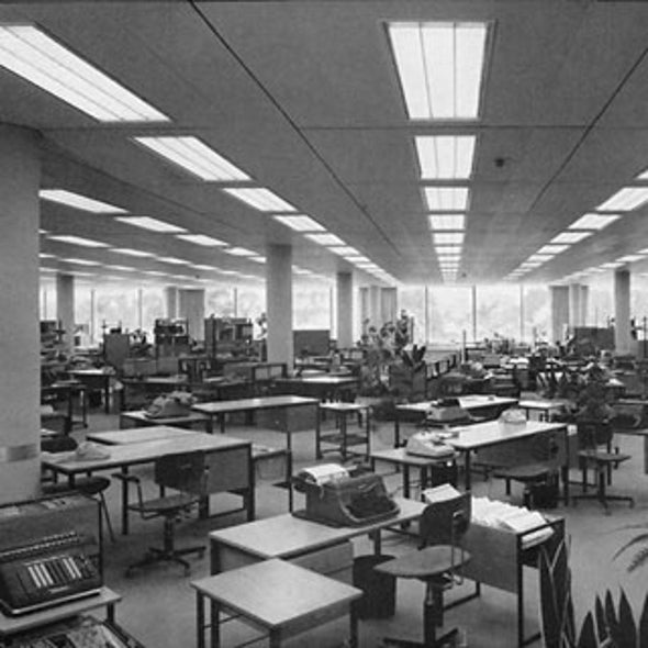 the origin of cubicles and the open plan office scientific american