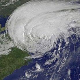 Hurricane Irene over the East Coast