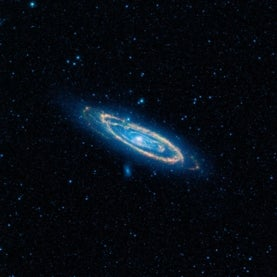A mid-infrared image of the Andromeda Galaxy
