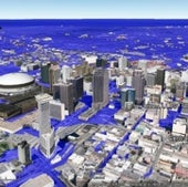 NEW ORLEANS, LOUISIANA: Under one meter of sea level rise.