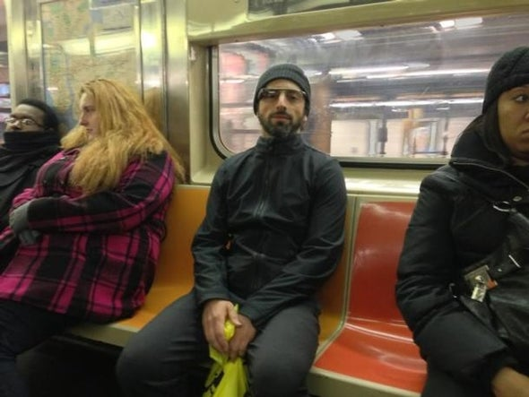 Brin Wears His Google Glasses on NYC Subway: Um, Why?