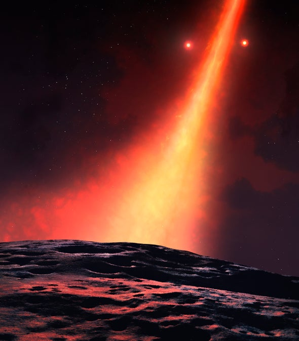 Weird Star System's Planet-Forming Disk Goes Vertical Like a Ferris Wheel