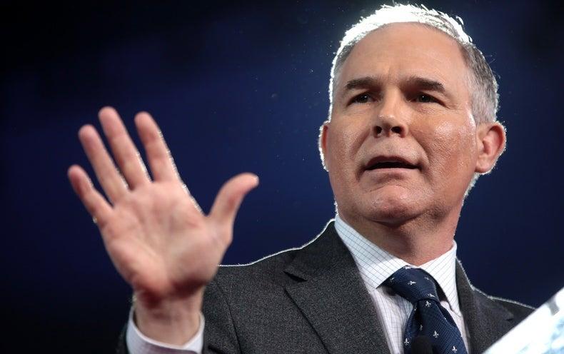 "EPA Chief Promises ""Aggressive"" Rollback of Regulations Soon"