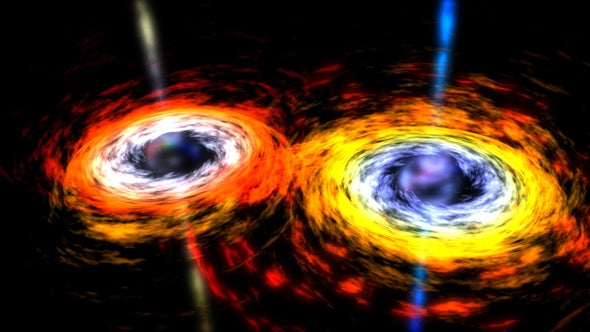 "Meet ""Spikey,"" a Possible Pair of Merging Supermassive Black Holes"