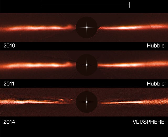 Astronomers Spy Unexplained Ripples Racing through an Infant Solar System