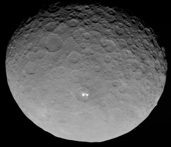 """Dawn Spacecraft Images Reveal """"Ice Rinks"""" on Ceres"""