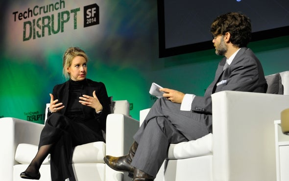Theranos CEO Faces Critics, Presents New Product Plans