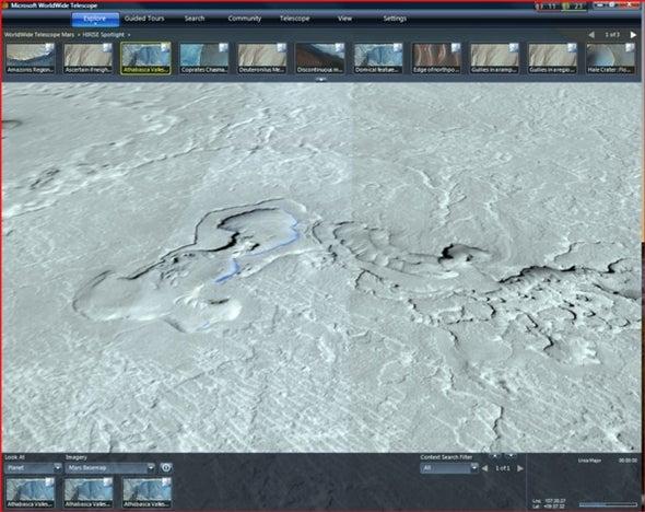 Mars's Volcanic Vents--via Microsoft