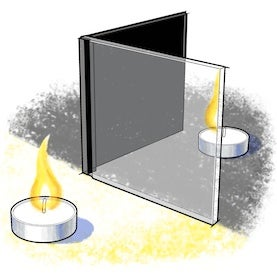 Sight-Line Science: Candle in the Mirror