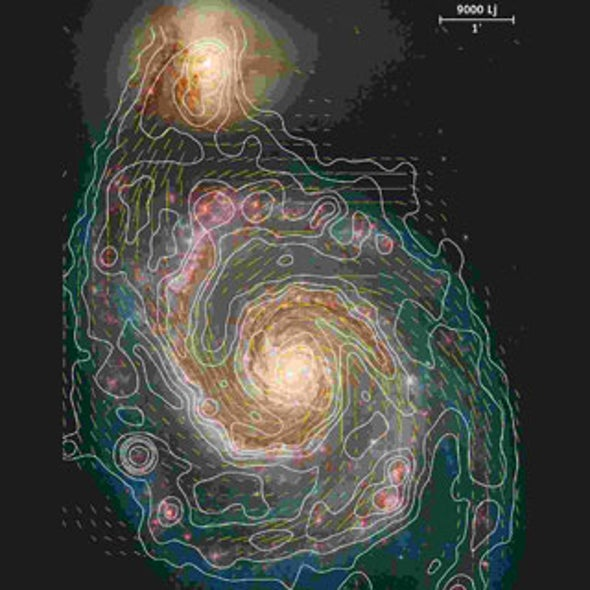 Galaxies' Mysterious Magnetic Fields Grew Up Fast