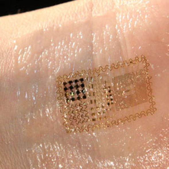 Skinlike Electronic Patch Takes Pulse, Promises New Human-Machine Integration