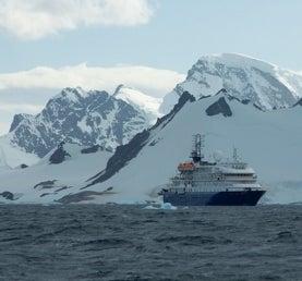 ship in antarctica