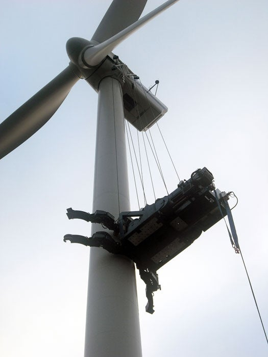 Tower Crane New Technology : Hoisting one for wind power climbing crane expected to