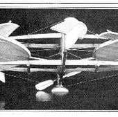 Justin Kay Toles labored unsuccessfully in helicopter research for decades. This photo from 1917 shows a design for spinning disks with ailerons at the edges.
