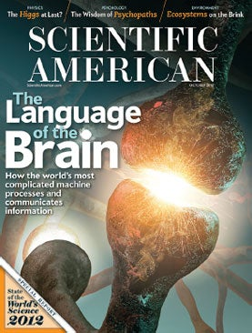 October 2012 Scientific American, Scientific American Issue Cover
